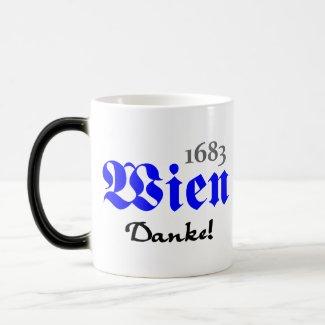 Wien 1683 - Danke | Klassische Tasse (weiß/schwarz)