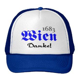 Wien 1683 - Danke | Trucker-Mütze (weiß/königsblau )