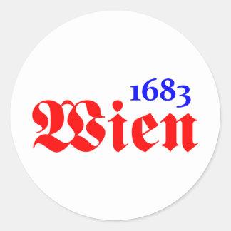 Wien 1683 runder aufkleber