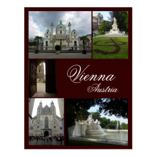 Wien-Collage Postkarte