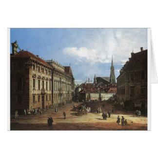 Wien, das Lobkowitzplatz durch Bernardo Bellotto Karte