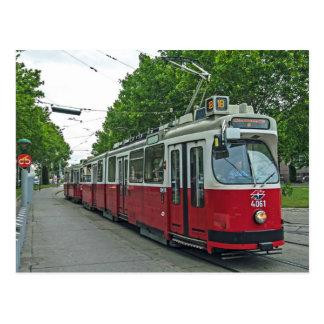 Wien elektrischer Streetcar 2014 Postkarte