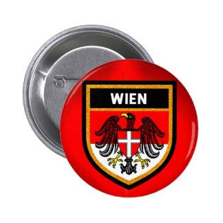Wien Flagge Runder Button 5,1 Cm