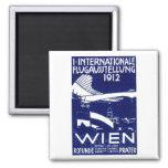 Wien-Flugschau-Plakat 1912 Quadratischer Magnet
