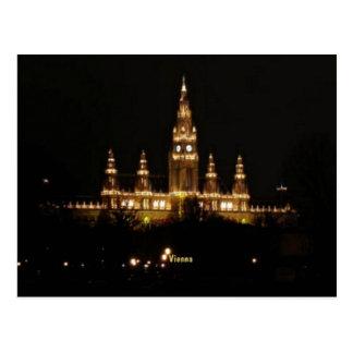Wien nachts postkarte