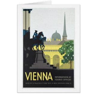 Wien Österreich - Vintage Reise Karte