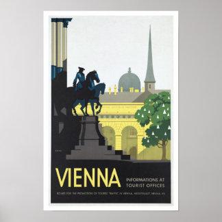 Wien Österreich - Vintage Reise Poster