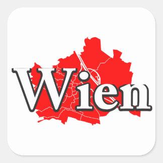 Wien Quadratischer Aufkleber
