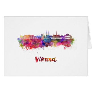 Wien skyline im Watercolor Karte