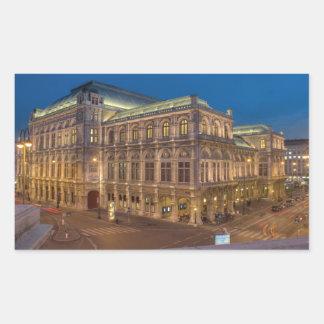 Wien-Staats-Oper Rechteckiger Aufkleber