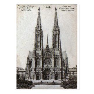 Wien, Votivkirche, 1908 Postkarte