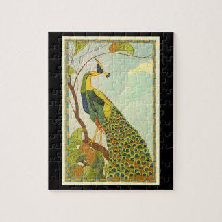 Wiener Kunst Nouveau Pfau Puzzle