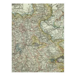 Wiesbaden und Frankfurt Deutschland Postkarte