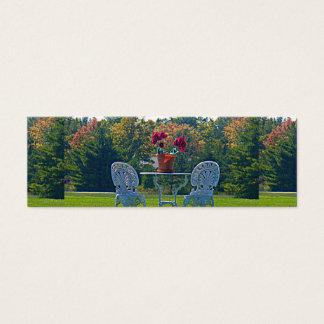 Wiese des Liebe-Herbstes verlässt dünne Mini Visitenkarte
