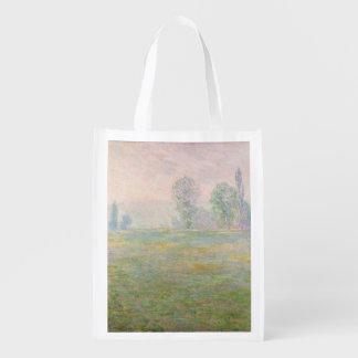Wiesen Claude Monets | in Giverny, 1888 Wiederverwendbare Einkaufstasche