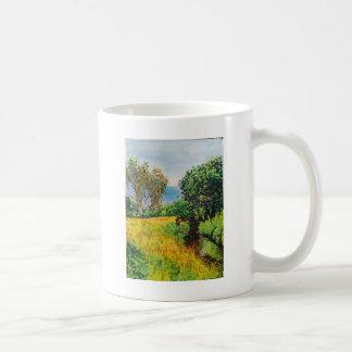 Wiesen-Fluss-Aquarell Kaffeetasse