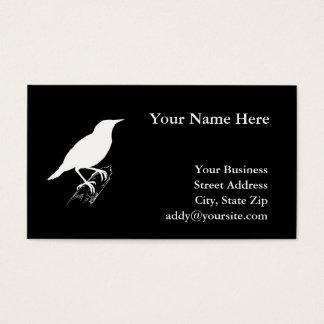 Wiesen-Lerche Visitenkarte