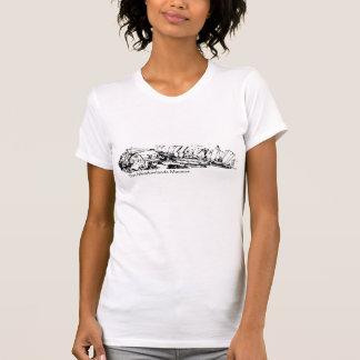 Wiesen-Museums-wunderliche Skizze T-Shirt