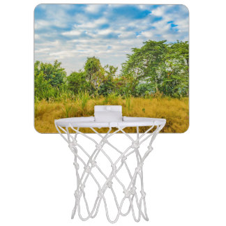 Wiesen-tropische Landschaftsszene, Guayaquil Mini Basketball Ring