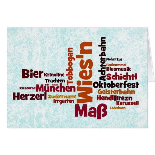 Wiesn Oktoberfest Octoberfest München Munich Karte