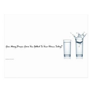 Wieviele Tropfen Sie heute hinzugefügt Ihrem Glas Postkarten