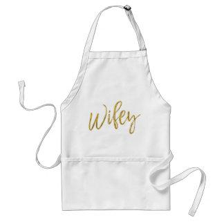 Wifey Imitat-Goldfolien-Schürze-Hochzeits-Geschenk Schürze