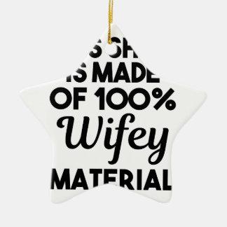 Wifey Material Keramik Ornament