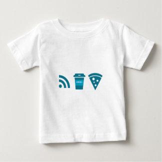 WiFi-Kaffee-Pizza Baby T-shirt