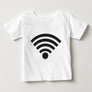 Wifi network symbol baby t-shirt