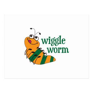 Wiggle-Wurm Postkarte