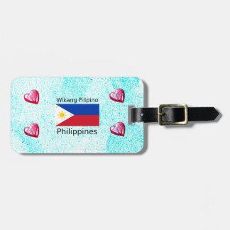 Wikang philippinische Sprache und Gepäckanhänger