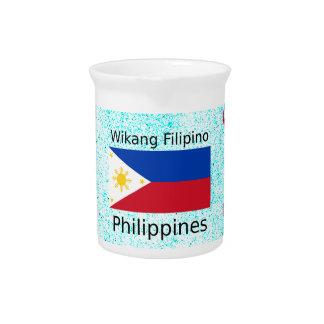 Wikang philippinische Sprache und Getränke Pitcher