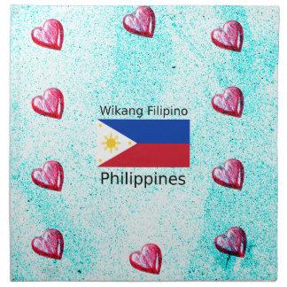 Wikang philippinische Sprache und Serviette