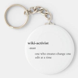 Wiki-Aktivist keychain Standard Runder Schlüsselanhänger