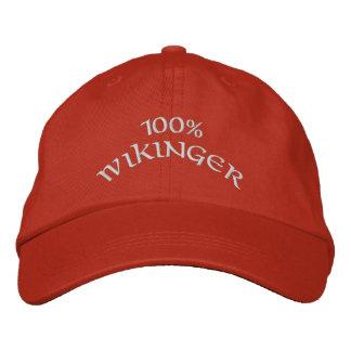 Wikinger 100% bestickte baseballkappe