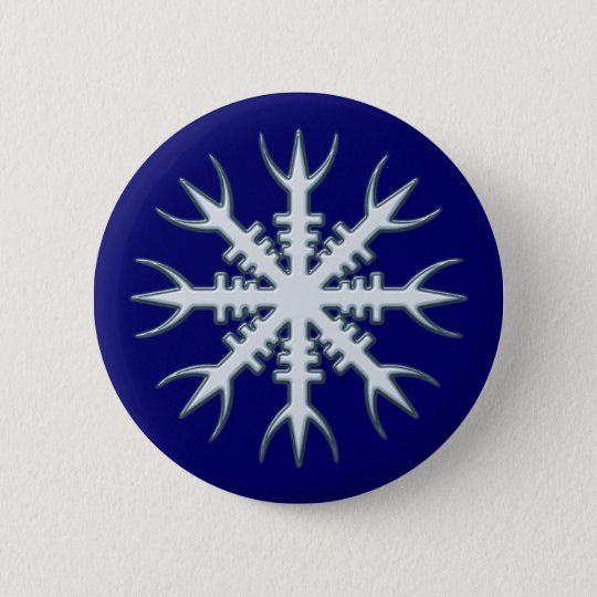 Wikinger Amulett Aegishjalmur viking amulet charm Runder Button 5,1 Cm