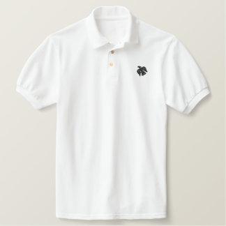 Wikinger-Raben-Fahne gesticktes Shirt Polo Shirt