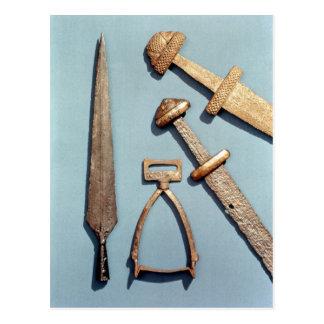 Wikinger-Schwerter, -steigbügel und -speerspitze Postkarte