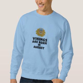 Wikinger sind geborene im August Z7v9w Sweatshirt