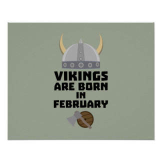 Wikinger sind geborene im Februar Zh6oh Poster