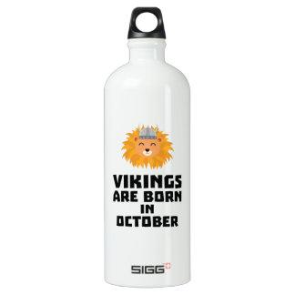 Wikinger sind geborene im Oktober Z0v8r Aluminiumwasserflasche