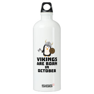 Wikinger sind geborene im Oktober Zvb06 Aluminiumwasserflasche