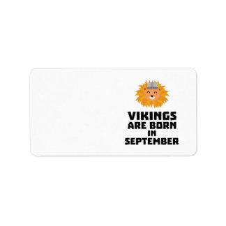 Wikinger sind geborene im September Zoid8 Adressaufkleber