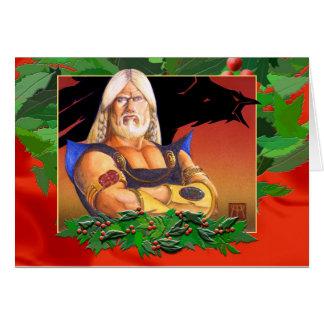 Wikinger-Weihnachten-Karte Grußkarte