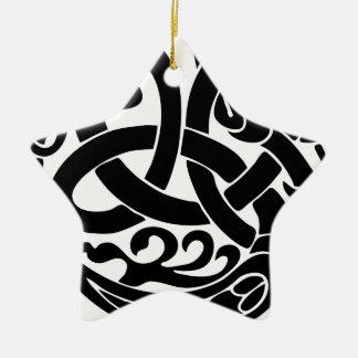 Wikinger-Weltschlangen-Weltesser Jormungandr Keramik Ornament