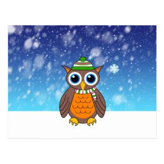 Wilberts erste Schneefälle Postkarte
