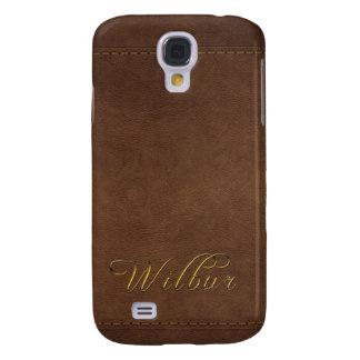 WILBUR Leder-Blick kundengebundener Telefon-Kasten Galaxy S4 Hülle