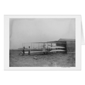 Wilbur u. Orville Wright in 2. trieben Maschine an Karte