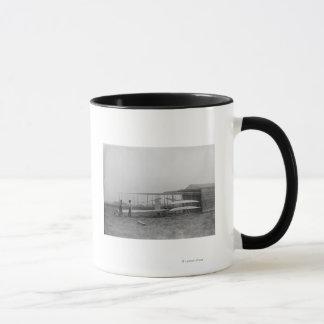Wilbur u. Orville Wright in 2. trieben Maschine an Tasse