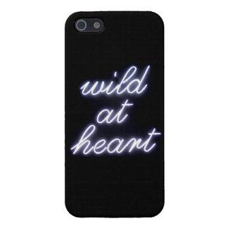 Wild an den Herz-Neonlichtern schwärzen Sie iPhone iPhone 5 Etui